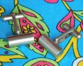 Minimalist vintage metal cufflinks cylindrical pv